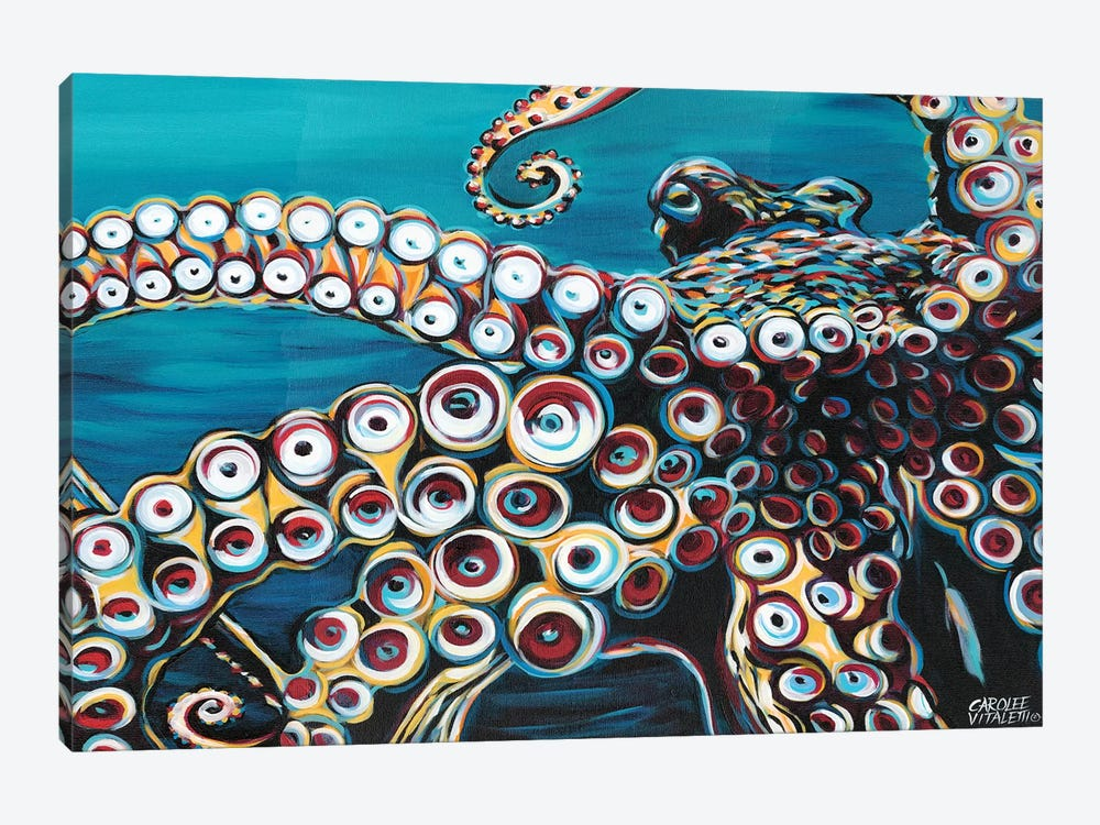 Wild Octopus I by Carolee Vitaletti 1-piece Canvas Artwork