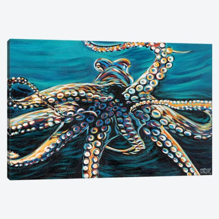Wild Octopus II Canvas Print #VIT40} by Carolee Vitaletti Canvas Art Print