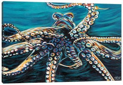 Wild Octopus II Canvas Art Print