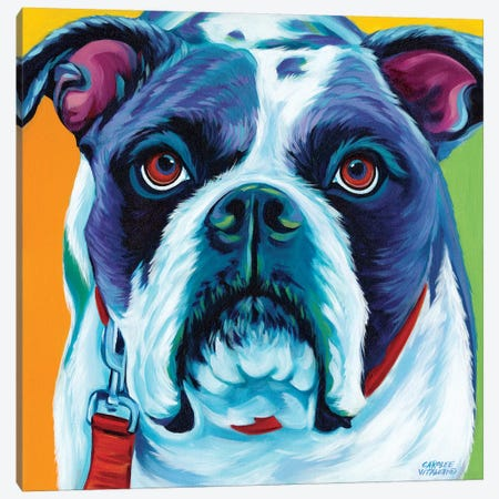 Cute Pups II Canvas Print #VIT44} by Carolee Vitaletti Canvas Artwork