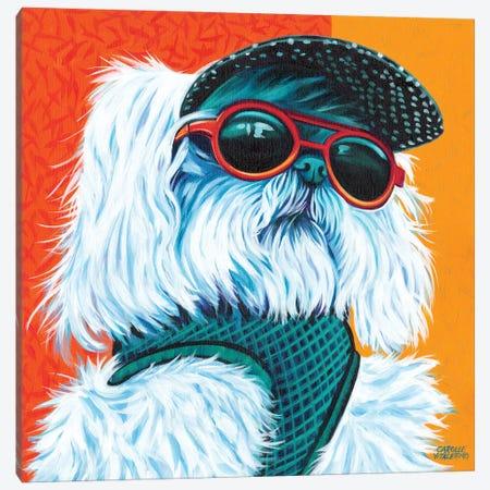 Cute Pups IV Canvas Print #VIT45} by Carolee Vitaletti Canvas Artwork