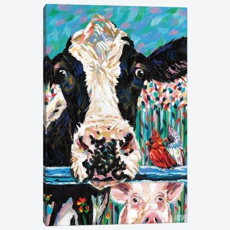 Farm Buddies II Canvas Print #VIT46} by Carolee Vitaletti Canvas Art
