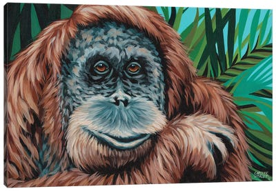 Jungle Monkey I Canvas Art Print