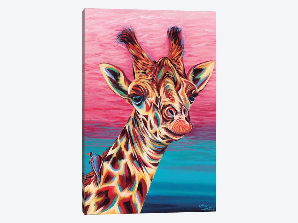 Sky High Giraffe I by Carolee Vitaletti 1-piece Canvas Print