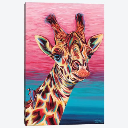 Sky High Giraffe I Canvas Print #VIT50} by Carolee Vitaletti Canvas Wall Art