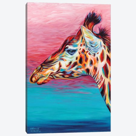 Sky High Giraffe II Canvas Print #VIT51} by Carolee Vitaletti Canvas Wall Art