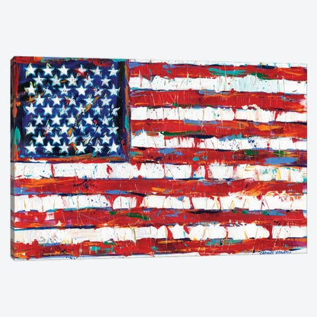 Dramatic Stars & Stripes Canvas Print #VIT57} by Carolee Vitaletti Canvas Print