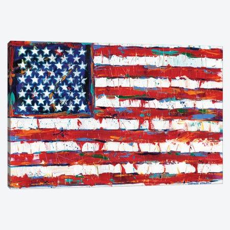 Dramatic Stars & Stripes Canvas Print #VIT57} by Carolee Vitaletti Canvas Print