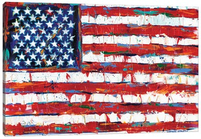 Dramatic Stars & Stripes Canvas Art Print