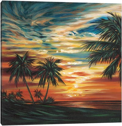 Stunning Tropical Sunset I Canvas Art Print