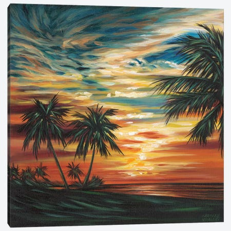 Stunning Tropical Sunset I 3-Piece Canvas #VIT58} by Carolee Vitaletti Canvas Art