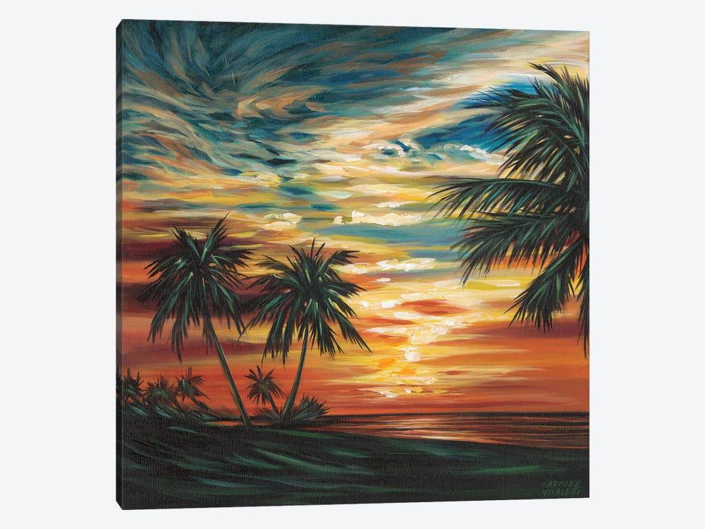 Stunning Tropical Sunset I by Carolee Vitaletti 1-piece Canvas Print
