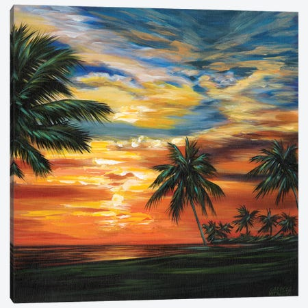 Stunning Tropical Sunset II Canvas Print #VIT59} by Carolee Vitaletti Canvas Art