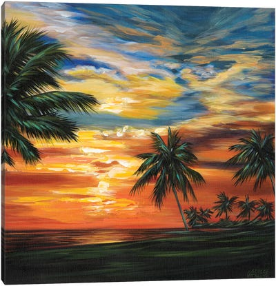 Stunning Tropical Sunset II Canvas Art Print
