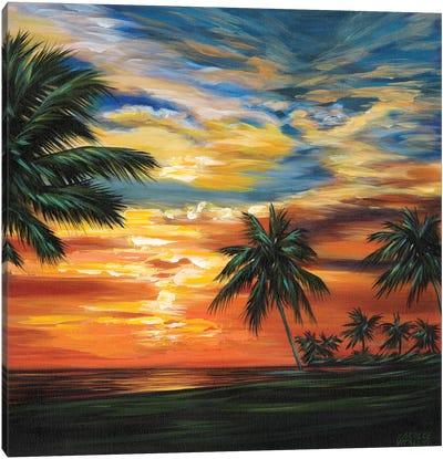 Stunning Tropical Sunset II Canvas Art Print
