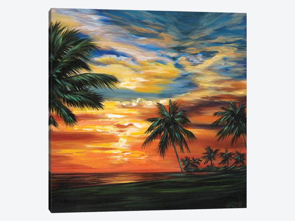 Stunning Tropical Sunset II by Carolee Vitaletti 1-piece Canvas Art