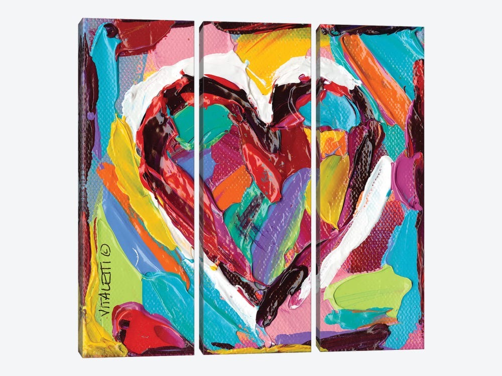 Colorful Expressions III by Carolee Vitaletti 3-piece Canvas Artwork