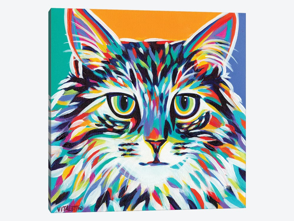 Dramatic Cats I by Carolee Vitaletti 1-piece Canvas Artwork