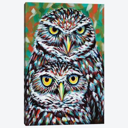 Fury Feather Friends I Canvas Print #VIT62} by Carolee Vitaletti Canvas Art Print