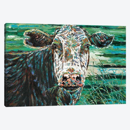 Marshland Cow II Canvas Print #VIT65} by Carolee Vitaletti Canvas Wall Art