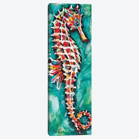 Radiant Seahorse I Canvas Print #VIT68} by Carolee Vitaletti Art Print