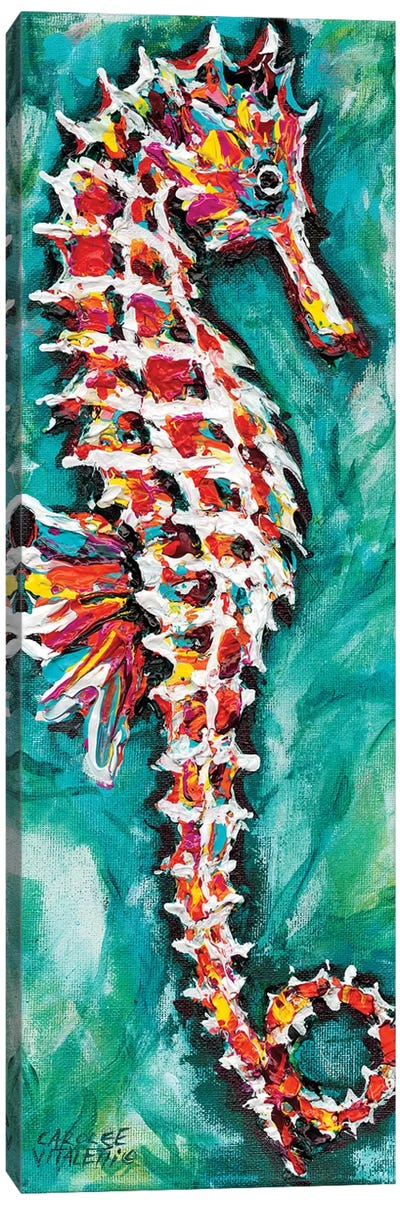 Radiant Seahorse I by Carolee Vitaletti Canvas Art Print