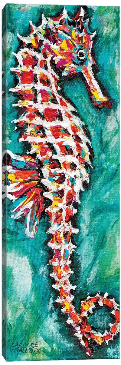 Radiant Seahorse I Canvas Art Print