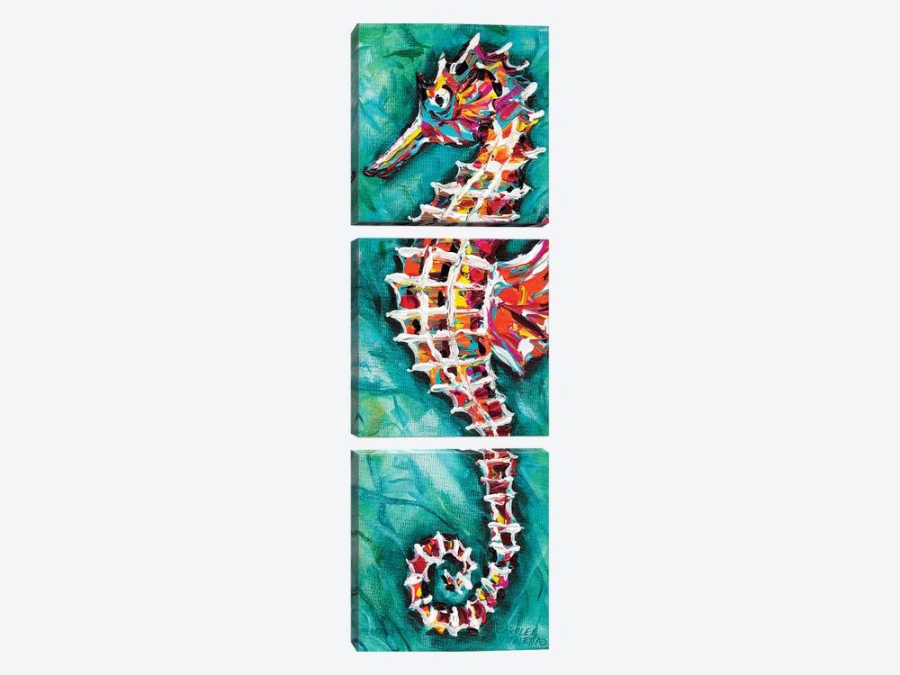 Radiant Seahorse II by Carolee Vitaletti 3-piece Art Print