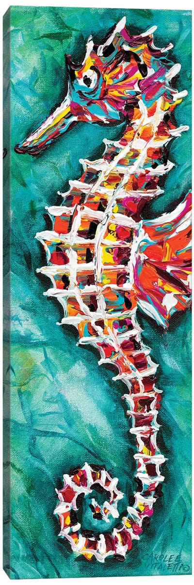 Radiant Seahorse II by Carolee Vitaletti Canvas Art Print