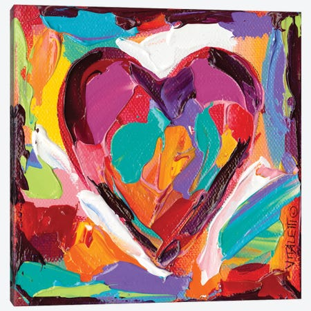 Colorful Expressions IV Canvas Print #VIT6} by Carolee Vitaletti Art Print