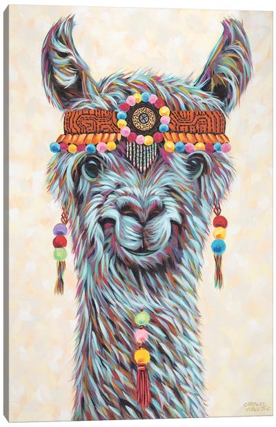 Hippie Llama I by Carolee Vitaletti Canvas Art Print