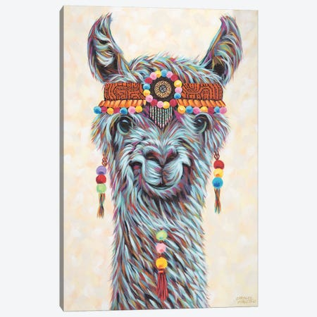 Hippie Llama I Canvas Print #VIT70} by Carolee Vitaletti Canvas Artwork