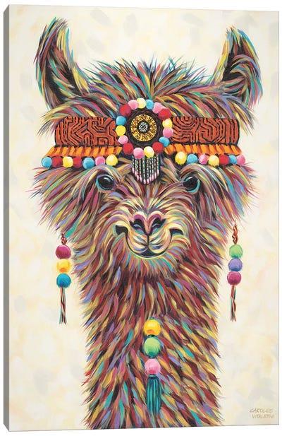 Hippie Llama II Canvas Art Print