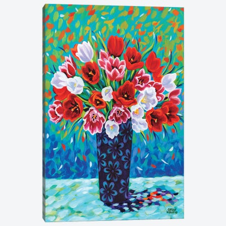 Bouquet Celebration I Canvas Print #VIT72} by Carolee Vitaletti Canvas Artwork