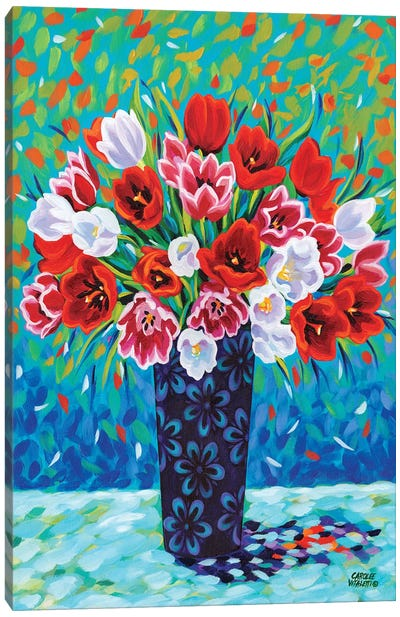 Bouquet Celebration I Canvas Art Print