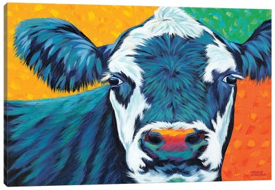 Colorful Country Cows I Canvas Art Print