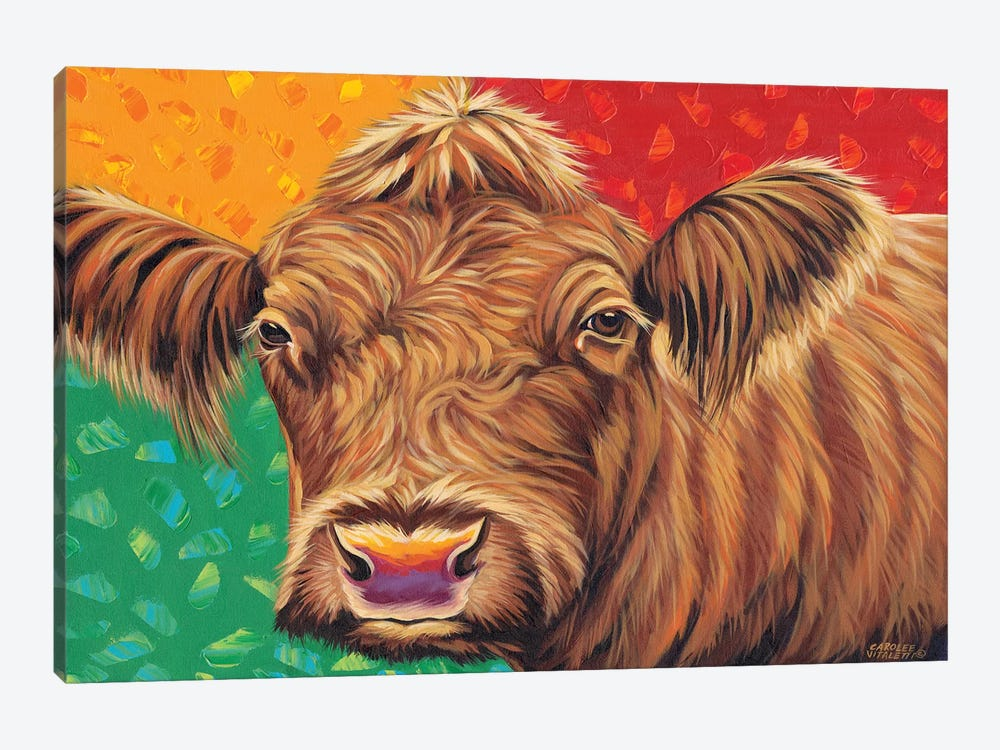 Colorful Country Cows II by Carolee Vitaletti 1-piece Canvas Artwork