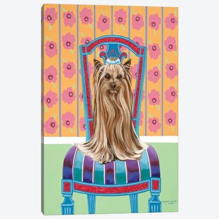 Crown Princess Yorkie Canvas Print #VIT76} by Carolee Vitaletti Canvas Print