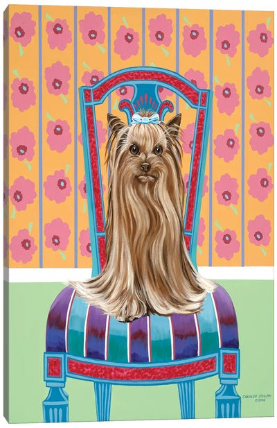 Crown Princess Yorkie Canvas Art Print