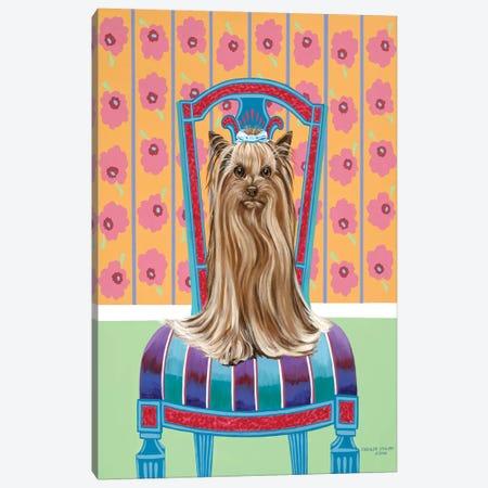 Crown Princess Yorkie 3-Piece Canvas #VIT76} by Carolee Vitaletti Canvas Print
