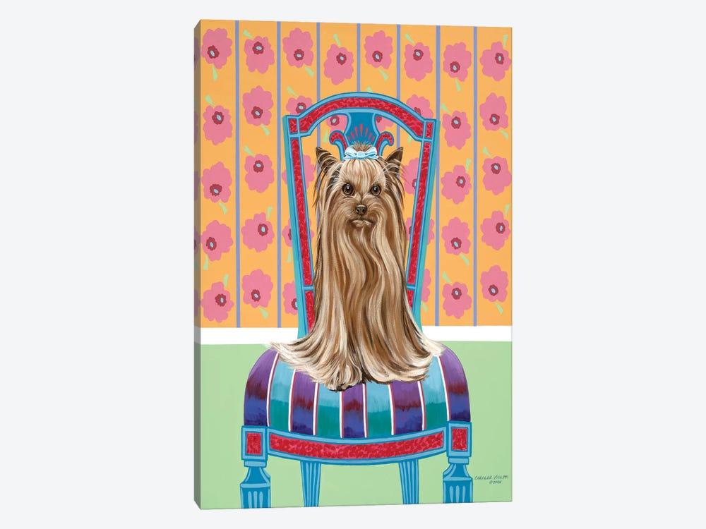 Crown Princess Yorkie by Carolee Vitaletti 1-piece Canvas Print