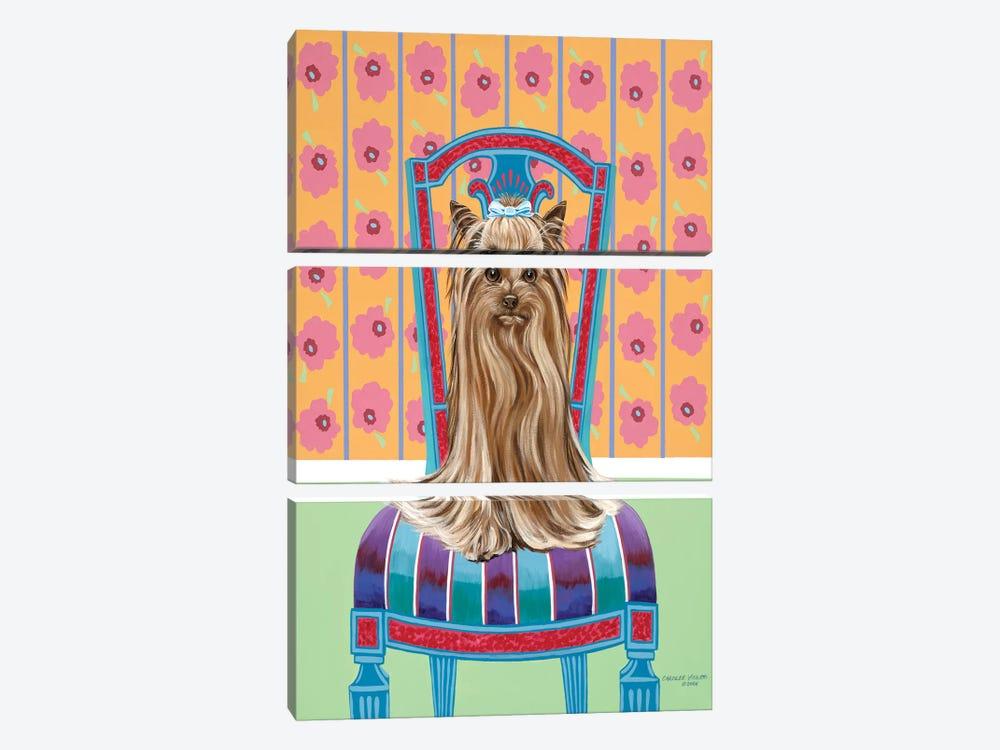 Crown Princess Yorkie by Carolee Vitaletti 3-piece Canvas Print