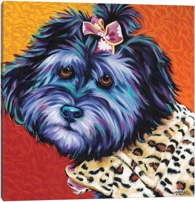 Cute Pups III Canvas Art Print