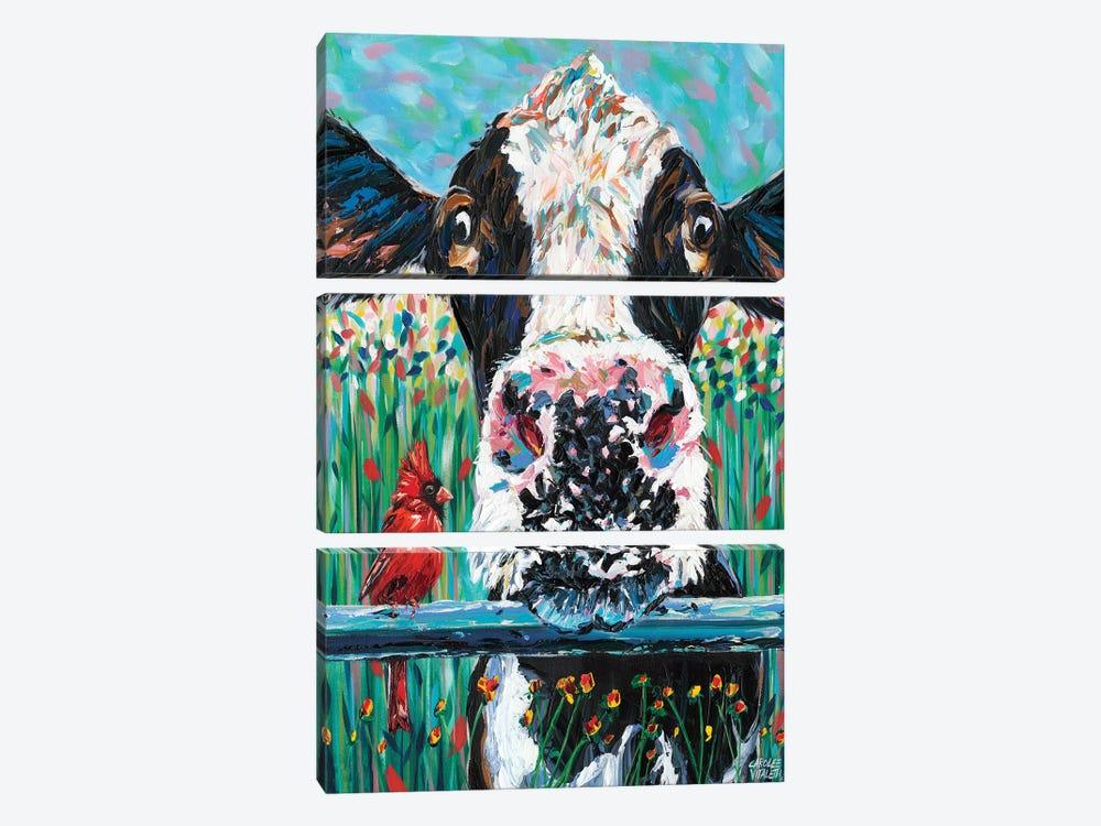 Farm Buddies I by Carolee Vitaletti 3-piece Canvas Artwork