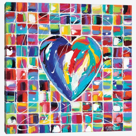 Hearts Of A Different Color I Canvas Print #VIT7} by Carolee Vitaletti Canvas Art Print