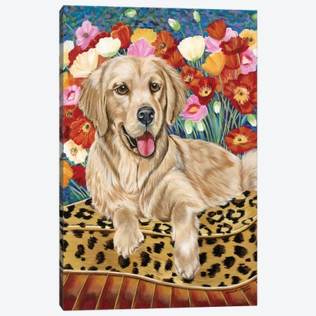 Golden Boy Retriever Canvas Print #VIT80} by Carolee Vitaletti Canvas Art Print