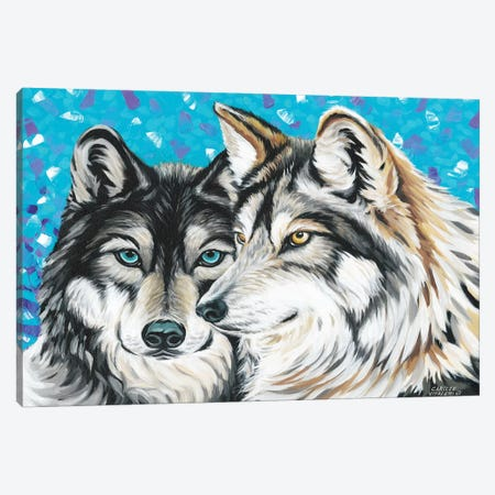Grey Wolf I Canvas Print #VIT81} by Carolee Vitaletti Canvas Art Print