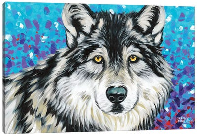 Grey Wolf II Canvas Art Print