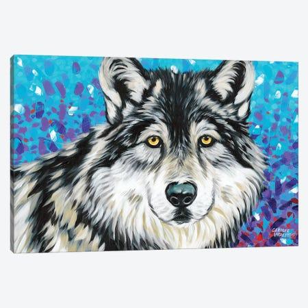 Grey Wolf II 3-Piece Canvas #VIT82} by Carolee Vitaletti Canvas Print