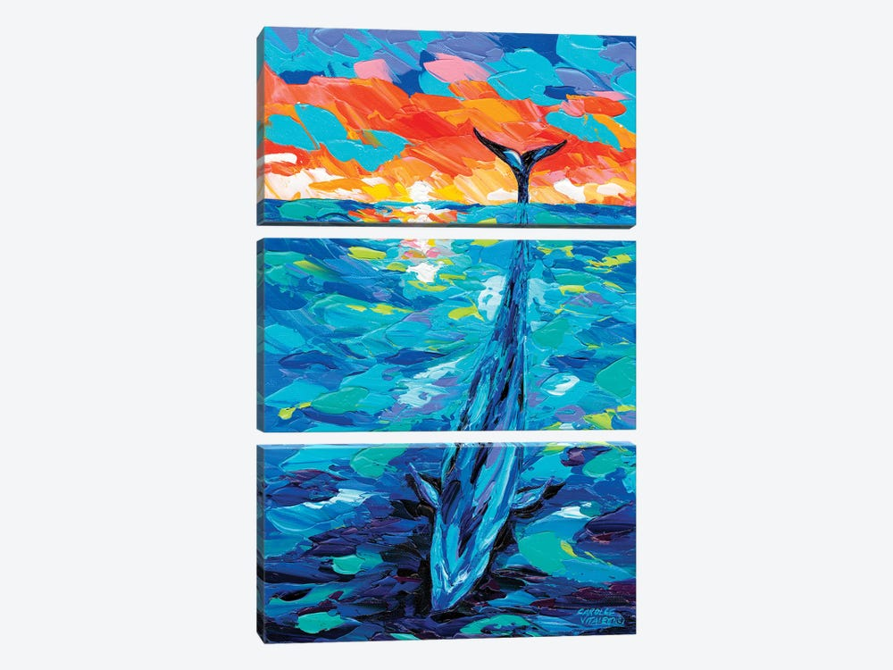 Ocean Friends II by Carolee Vitaletti 3-piece Canvas Art Print
